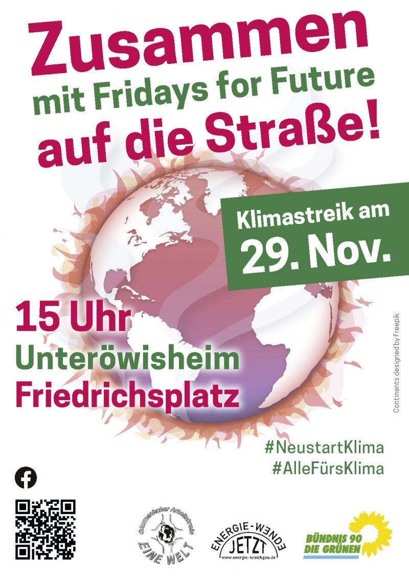 Flyer FfF Klimastreik 29. November