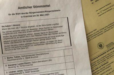 Wahlzettel Bürgermeister-Stichwahl
